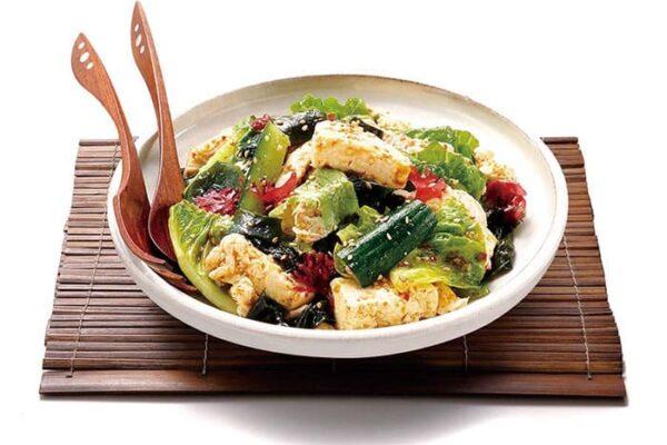オリジン弁当 蒸し鶏と豆腐のチョレギサラダ